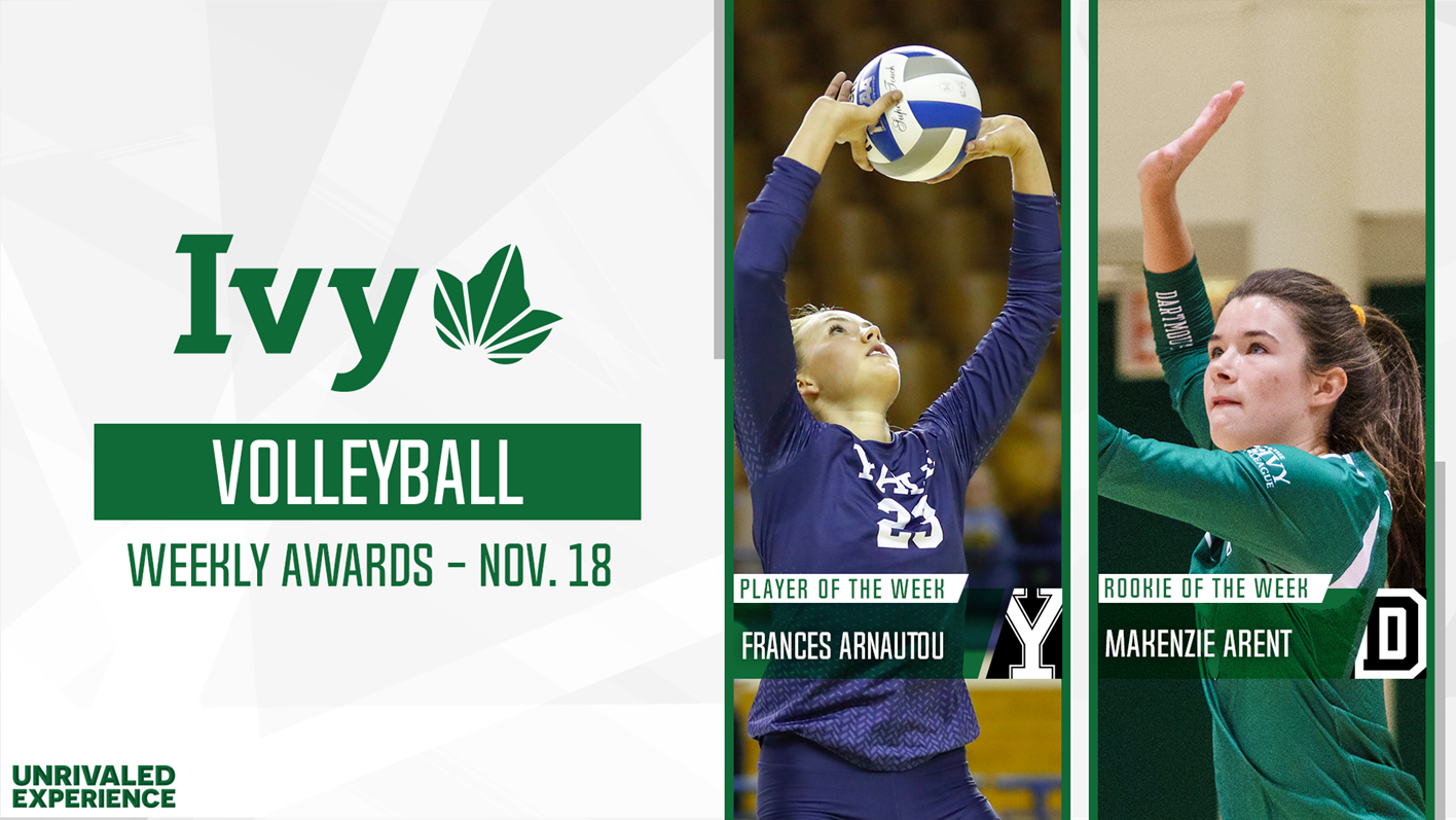 Arnautou Arent Earn Volleyball Weekly Honors Following Unblemished Weeks Ivy League