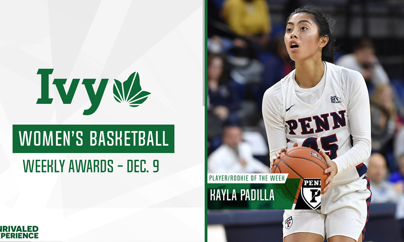 Penn's Padilla Named Ivy League Player/Rookie of the Week